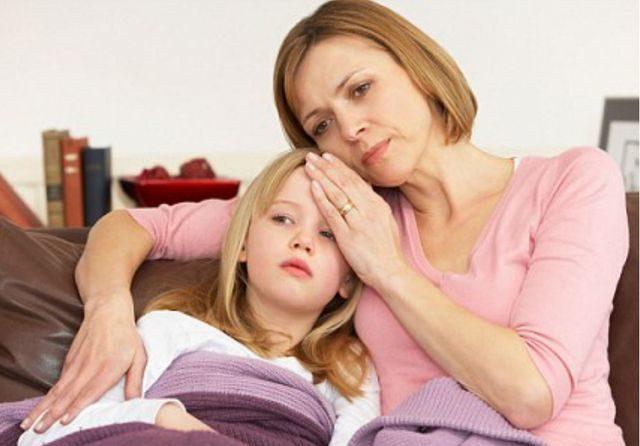 Больной ребенок с мамой