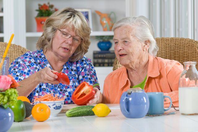 Еда для пожилой женщины